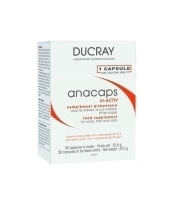 Ducray Anacaps Tri-Activ Food Supplement, 30 caps
