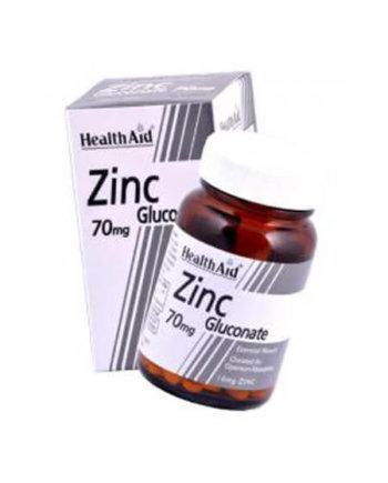Health Aid Zinc Gluconate 70mg 90 vetabs