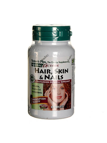 Nature's Plus, Hair Skin & Nails, 60 tabs