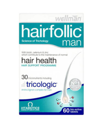 VITABIOTICS Hair Folic Man, 60 tabs
