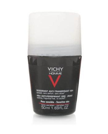 Vichy Homme Deodorant Sensitive Skin 48hr 50ml