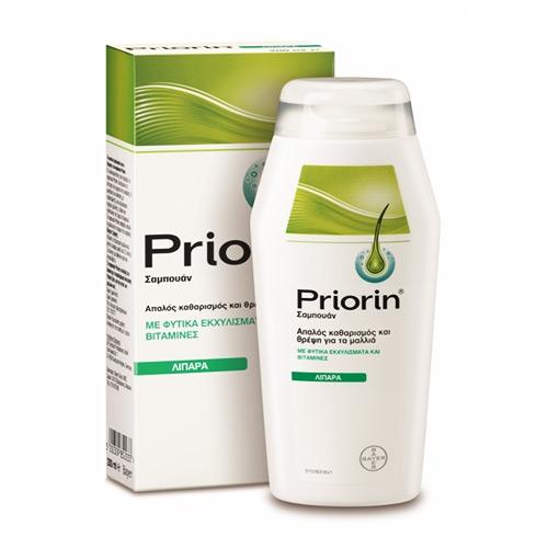 Bayer Priorin Σαμπουάν Κατά της Τριχόπτωσης για Λιπαρά -Αδύναμα Μαλλιά 200ml