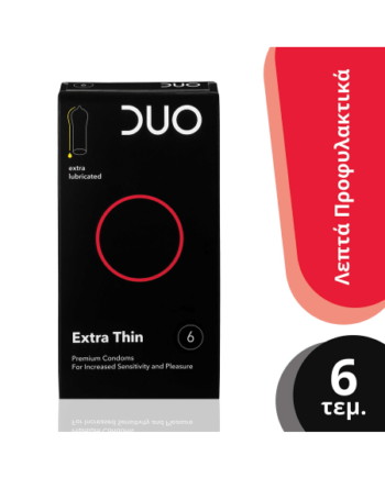 DUO Sensitive Extra Thin - Πολύ Λεπτό 6 Τεμάχια