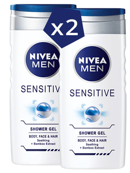 NIVEA Men Sensitive Shower Gel 1+1 2x500ml