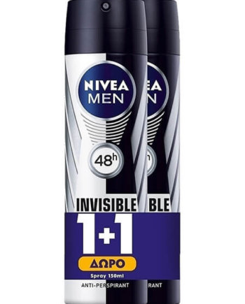 Nivea Black & White Power Invisible Spray 150ml 1+1