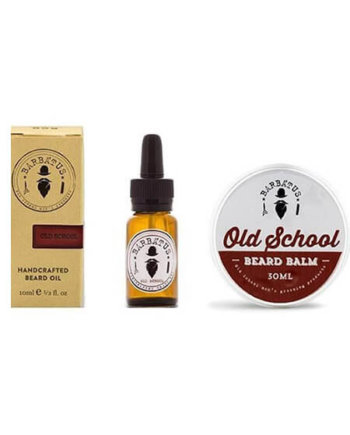 Barbatus Pack Old School Beard Oil 10ml & Beard Balm 30gr