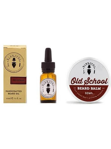Barbatus Pack Old School Beard Oil 10ml & Beard Balm 30gr