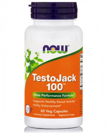Now Foods - TESTO JACK 100™, 100 mg w/ Standarized Long Jack - 60 Vcaps