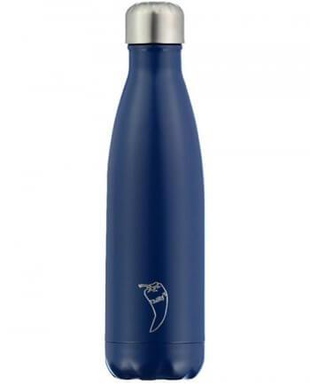 CHILLY'S BOTTLES Matte Edition - Θερμός σε Χρώμα Μπλε Ματ 500ml