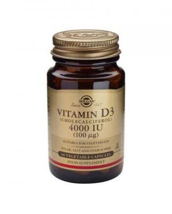 Solgar Vitamin D3 4000IU, 60 Φυτικές Κάψουλες