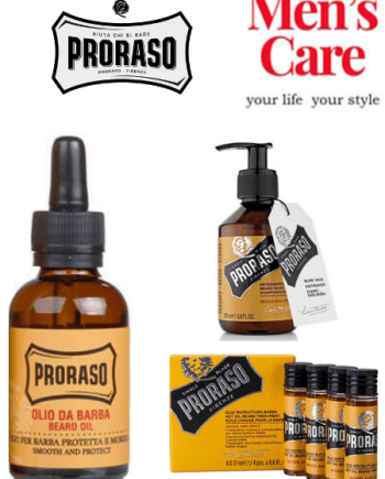 Πακέτο Proraso περιποίηση γενειάδας Wood and Spice