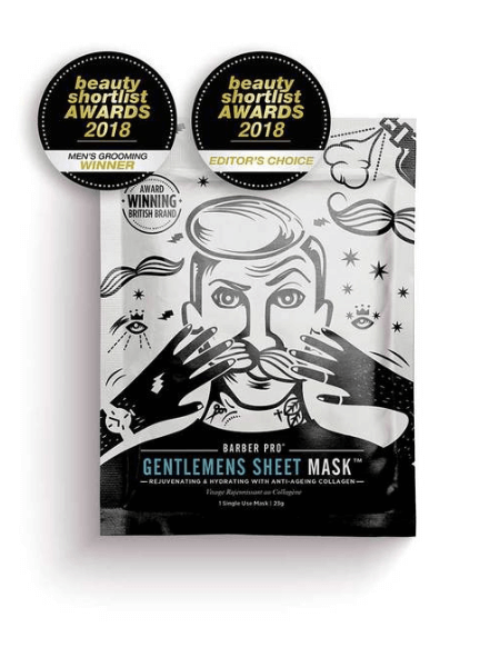 BARBER PRO Face Mask Rejuvenating and Hydrating with Anti-Ageing Collagen