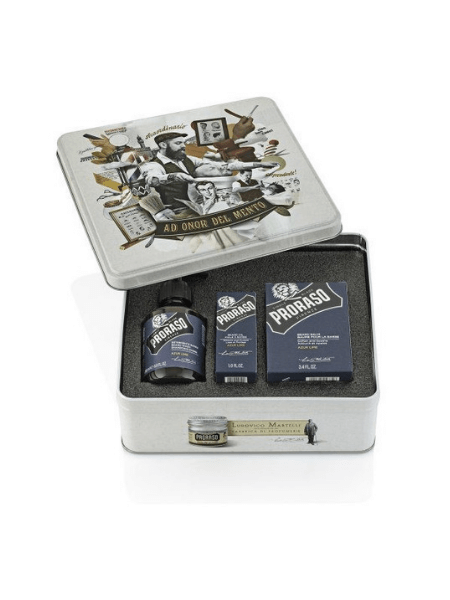 Proraso Azur Lime Beard Care Kit (Beard wash 200ml, Beard balm 100ml, Beard oil 30ml)