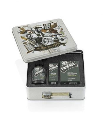 Proraso Cypress and Vetyver Beard Care Kit ( Beard wash 200ml, Beard balm 100ml, Beard oil 50ml ).