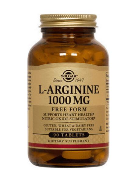 Solgar L-Arginine 1000mg 90 ταμπλέτες