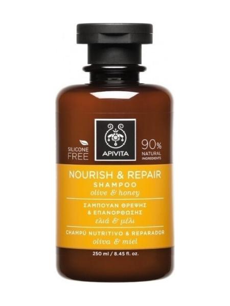 Apivita Σαμπουάν Nourish & Repair με Ελιά & Μέλι 250ml