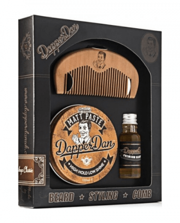 Dapper Dan Gift Set - Beard Oil 15ml - Matt Paste 100ml - Χτενάκι