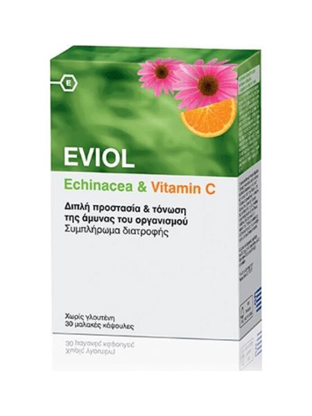 Eviol Echinacea & Vitamin C 30 μαλακές κάψουλες