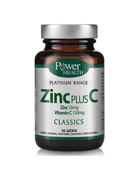 Power Health Classics Platinum Zinc Plus C 30 ταμπλέτες