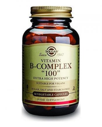 "Solgar B-Complex ""100"" 50 φυτικές κάψουλες"
