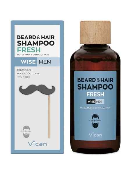 Vican Wise Men Beard & Hair Shampoo Fresh 200ml