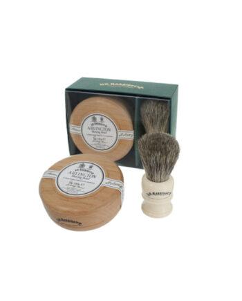 Dr Harris Arlington shaving gift set (shaving soap in bowl and shaving brush)