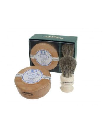 Dr Harris Windsor shaving gift set (shaving soap in bowl and shaving brush)