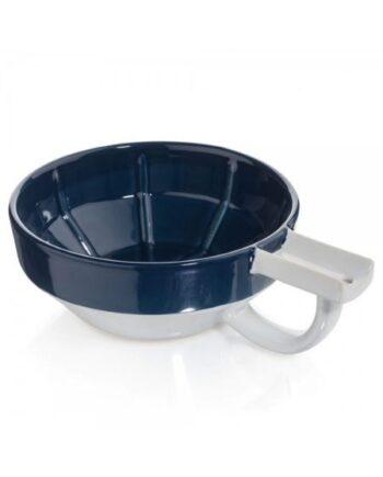Fine Accoutrements Porcelain Shaving Lather Bowl Blue White