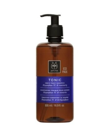 Apivita Men's Tonic Hippophae TC & Roremary Shampoo Eco Pack 500ml